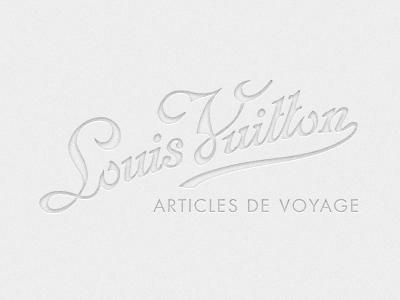 Louis Vuitton Calligraphy