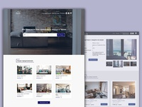 Landing page for a small real estate agency