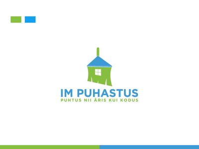IM Puhastus Cleaning Company ''Logo Design''