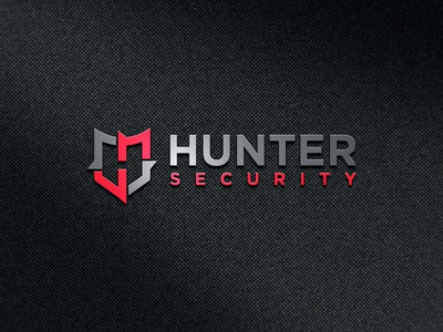 """H+S+Shield"" Hunter Security logo"
