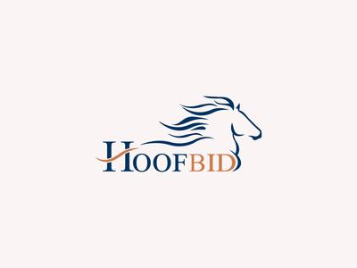 """Branding for online horse auction """"Hoofbid"""""""