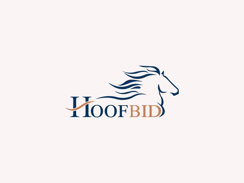 "Branding for online horse auction ""Hoofbid"" horse racing race typhography text bid horse online typography flat design logo branding"