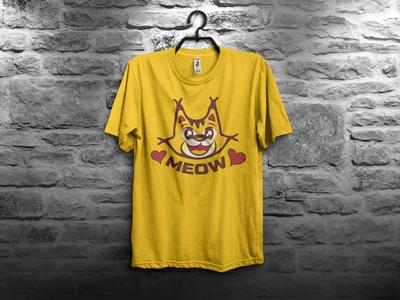 Meow T-Shirt Design