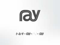 "Step by step concept of ""ray"" logo"