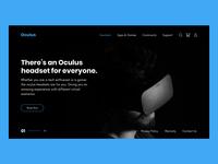Oculus VR Landing Page