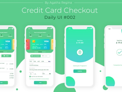 Credit Card Checkout - Daily UI #002 daily ui challenge design ui design ui  ux ui credit card checkout mobile app design daily ui 002 daily ui