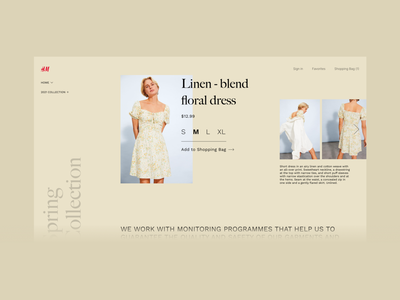 Fashion Website Redesign e-commerce shopping clean web hm desktop ui minimalist fashion design minimal redesign ui challenge clothes shop clothes online store webshop fashion
