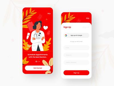 Health Mobile app Sign Up ux ui health app healthtech app mobile mobile app