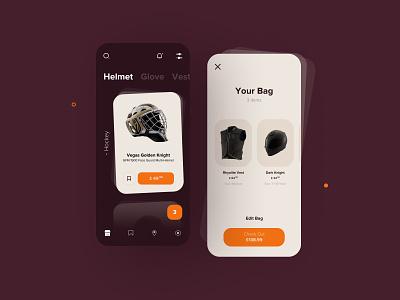 Sport Kit Shopping App Concept shop color uxdesignmastery ecommerce app cart shopping app branding ux ui mobile app design mobile app mobile ui mobile
