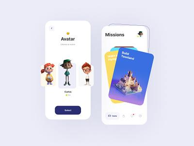 Concept: Game App uxdesignmastery uxdesign uidesign concept design app concept concept art icons app ui appdesign app character characterdesign game art game ui