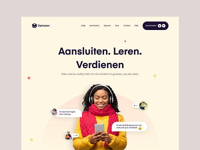 Web Header uidesign app landing page minimal brand vector ui ux design website web