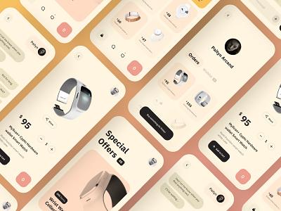 E-Commerce App elegant shop mcommerce mobile commerce shopping cart shopping ecommerce mobile app flat app uidesign uxdesignmastery branding design ux ui