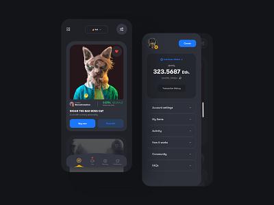 Concept Design - NFT App Marketplace cryptoart crypto cryptocurrency nft nftart fintech app typography app vector uidesign uxdesignmastery design ux ui