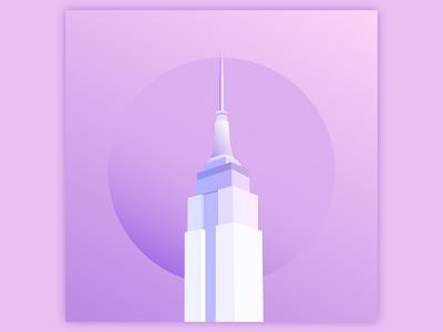 78th Street empire state building empire state illustration illustrator song art album art
