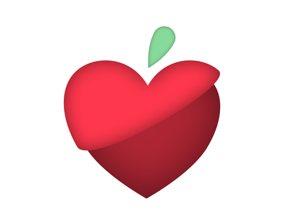 Trish, RD Logo apple fruit heart weight health dietician affinitydesigner affinity ipad apple pencil illustration graphic design