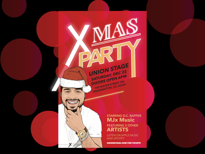 XMas Party Poster Design fun rap music graphic design christmas xmas party concert print design print ad poster