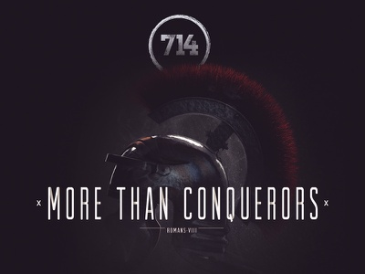 More Than Conquerors cd design band music logo typography