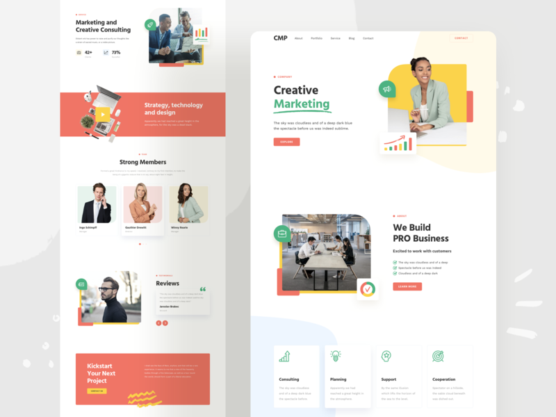 Company Responsive Landing Page design responsive page landing xd sketch figma ux ui corporate business company