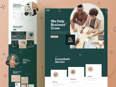 Consulting Landing Page template page responsive landing xd sketch figma ux ui company business consulting