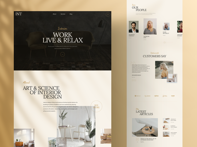 Interior Landing Page design page responsive landing xd sketch figma ux ui agency luxury interior
