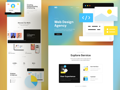 Web Design Agency Landing Page agency template webdesign page responsive landing xd sketch figma ux ui