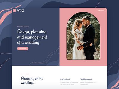 Wedding Planner Website design page responsive landing xd sketch figma ux ui planner wedding