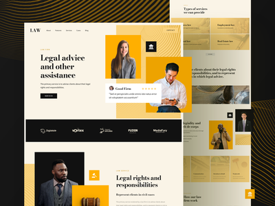 Law Firm Website template design responsive landing xd sketch figma ux ui lawyer attorney firm