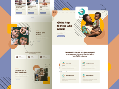 Charity Website template responsive landing xd sketch figma ux ui organization foundation nonprofit charity