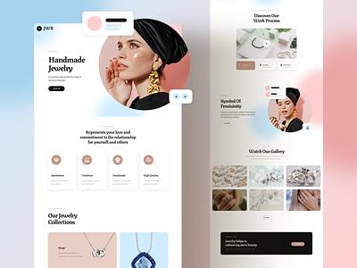 Jewelry Web Design design responsive landing xd sketch figma ux ui necklace handcrafted handmade jewelry