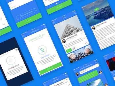 Blue Sky - Free iOS UI Kit psd kit ui ios free blue