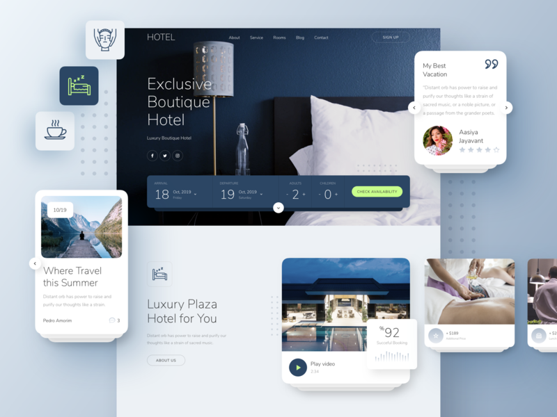 Hotel Landing Page booking hotel design responsive page landing xd sketch figma ux ui