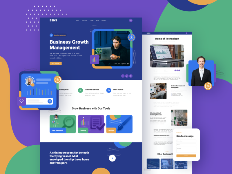 Corporate Business Responsive Template design page landing xd sketch figma ux ui template responsive business corporate