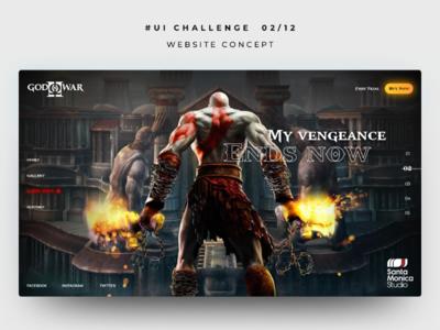 God of War Website Concept