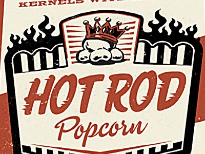 Hot Rod Popcorn popcorn illustration hot rod
