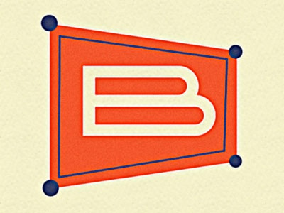 Logo Concept for Detroit Labs Broadside App retro design the letter b