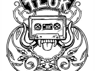 T.L.U.K. Logo motorhead casette band rock and roll logo