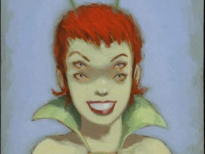 The Bachelorette girl alien painting acrylic