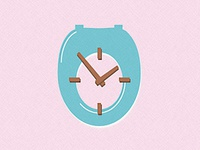 Toilet Seat Clock