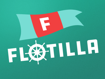 Flotilla fleet nautical logo flotilla
