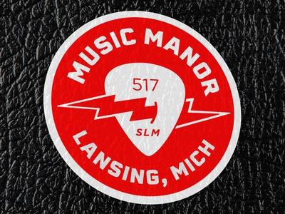 Music Manor Sticker guitar music store rock and roll
