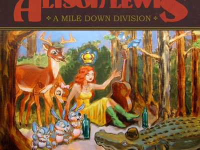 Allison Lewis - A Mile Down Division illustration painting print design cd cover