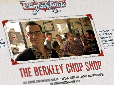 The Berkley Chop Shop responsive web design barber vintage greaser