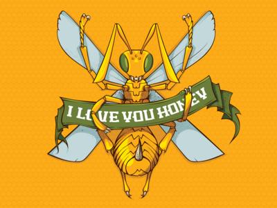 Stinger Bee Vector Illustration