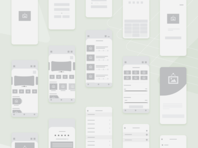 Food Delivery App Wireframes