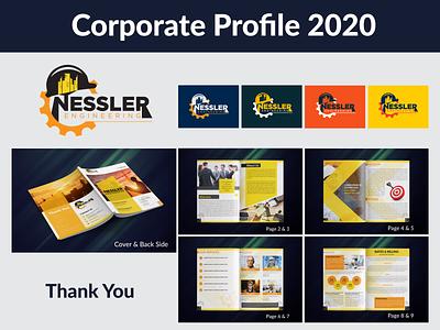Corporate Profile illustrator company brochure company profile profile corporate profile