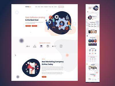 SAAS software Landing _ Website design website design websites adobe xd ux