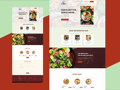 Landing Page Design logo design illustration websites website design signup sign in ux business card design adobe xd