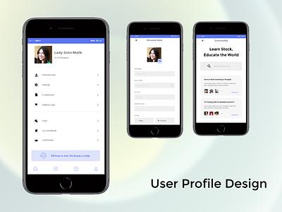 User Profile Design logo illustration design websites website design signup sign in business card design adobe xd ux