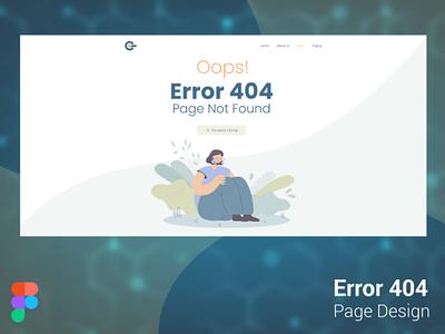 404 Error Page Design figma logo illustration websites design website design sign in signup business card design adobe xd ux