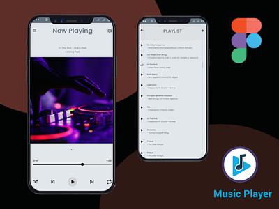 Music Player Design figma website design signup sign in business card design adobe xd ux